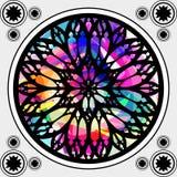 Ventana de cristal de colores gótica Fotos de archivo libres de regalías