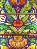 Ventana de cristal de colores vieja foto de archivo