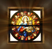 Ventana de cristal de la iglesia Imagen de archivo