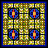 Ventana de cristal de la mancha de óxido Fotografía de archivo