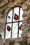 Ventana de cristal de la mancha de obispo Castle imagenes de archivo