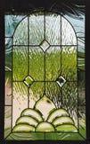 Ventana de cristal manchada Fotografía de archivo