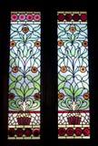 Ventana de cristal manchada Imagen de archivo libre de regalías