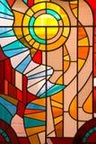 Ventana de cristal manchada Foto de archivo libre de regalías