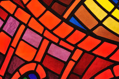 Ventana de cristal manchada - iglesia Imágenes de archivo libres de regalías