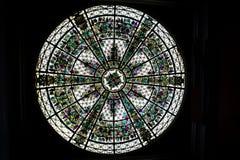 Ventana de cristal manchada redonda Fotos de archivo libres de regalías