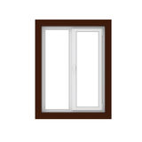 ventana de cristal plástica 3d aislada en blanco Imágenes de archivo libres de regalías