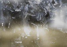 Ventana de cristal sucia Foto de archivo libre de regalías