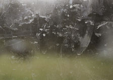 Ventana de cristal sucia Imagenes de archivo