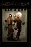 Ventana de exhibición de la tienda de la moda de Adele Altman en Italia Imagen de archivo libre de regalías
