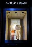 Ventana de Giorgio Armani Sydney imagenes de archivo