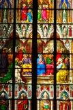 ventana de la catedral Fotografía de archivo