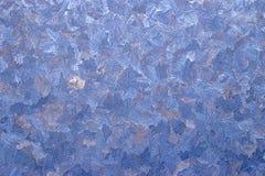 Ventana de la helada del invierno Imagen de archivo