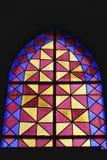 Ventana de la iglesia de Colorido en Lisboa imagenes de archivo