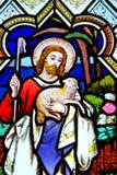 Ventana de la iglesia de Cubert ~ Cornualles Fotografía de archivo libre de regalías