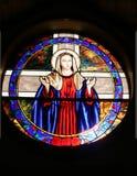 Ventana de la iglesia de Maria de la madre Imágenes de archivo libres de regalías