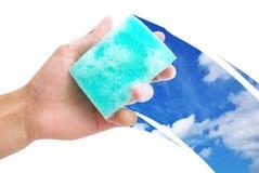 Ventana de la limpieza Imagen de archivo libre de regalías