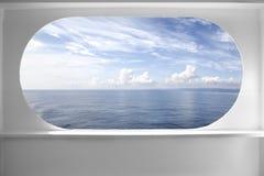 Ventana de la nave de la cubierta Fotos de archivo libres de regalías