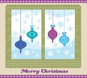 Ventana de la Navidad stock de ilustración