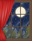 Ventana de la Navidad libre illustration