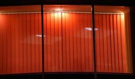 Ventana de la noche del café Imagenes de archivo