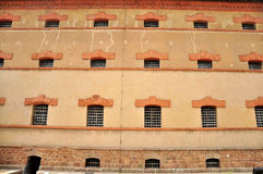 Ventana de la pared de la prisión Foto de archivo