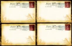 Ventana de la postal de la vendimia Foto de archivo
