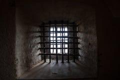 Ventana de la prisión Imagenes de archivo