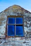 Ventana de la ruina de la granja Fotografía de archivo libre de regalías