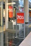 Ventana de la venta del almacén del asunto de las compras Imagen de archivo