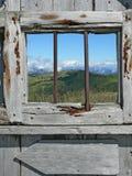 Ventana de madera Foto de archivo