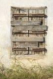 Ventana de madera cerrada Imagen de archivo
