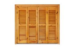 Ventana de madera con los obturadores cerrados Fotografía de archivo libre de regalías