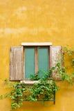 Ventana de madera de la vendimia Imagenes de archivo