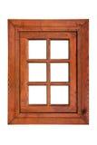 Ventana de madera del marco con seis cristales Imagen de archivo libre de regalías