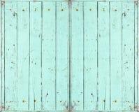 Ventana de madera verde Fotografía de archivo
