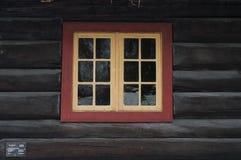 Ventana de madera vieja Foto de archivo libre de regalías