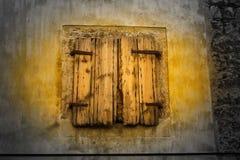Ventana de madera vieja Imagen de archivo libre de regalías