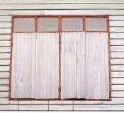 Ventana de madera vieja Fotos de archivo