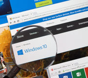 Ventana 10 de Microsoft Imágenes de archivo libres de regalías