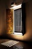 Ventana de oro en templo tailandés Fotografía de archivo libre de regalías