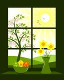 Ventana de Pascua Foto de archivo libre de regalías