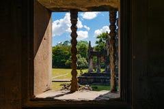 Ventana de piedra de Angkor Wat Fotografía de archivo