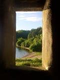 Ventana de piedra del castillo Fotos de archivo libres de regalías