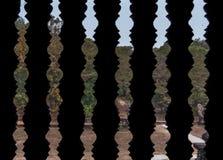 Ventana de piedra tallada de la barra imagenes de archivo