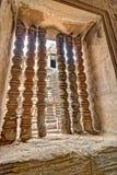 Ventana de piedra tallada de la barra de Angkor Wat Foto de archivo