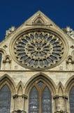 Ventana de Rose de la iglesia de monasterio de York Imagenes de archivo