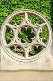 Ventana de Rose hecha de piedra en Place de Vosge Imágenes de archivo libres de regalías