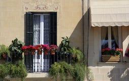 Ventana de Sitges Foto de archivo libre de regalías