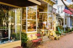 Ventana de tienda adornada para Halloween Imagenes de archivo